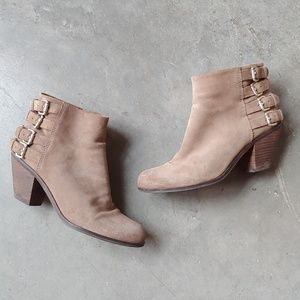 Sam Edelman Tan Lucca Suede Ankle Booties size 7M